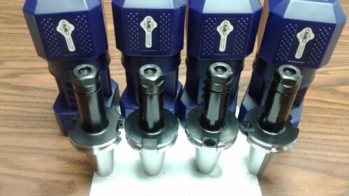 "CAT40-ER16 COLLET CHUCKS W.  4"" LONG GAGE LENGTH---4 CHUCKS Tool Holder Set"