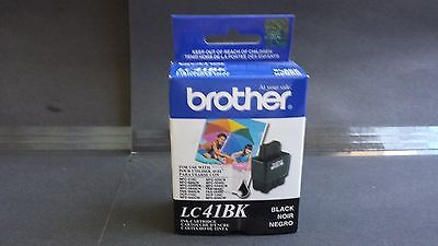 (Genuine Brother Black Inkjet Cartridge LC41BK 10/2011 One Unit DCP & MFC models)