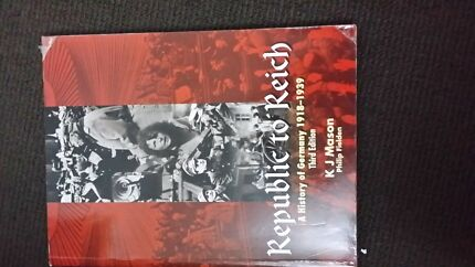Republic to Reich a history of Germany 1918 - 1939  Perth CBD Perth City Preview