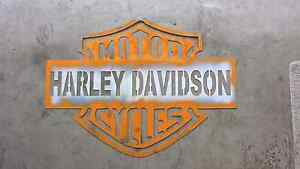 Harley Davidson metal template Pacific Pines Gold Coast City Preview