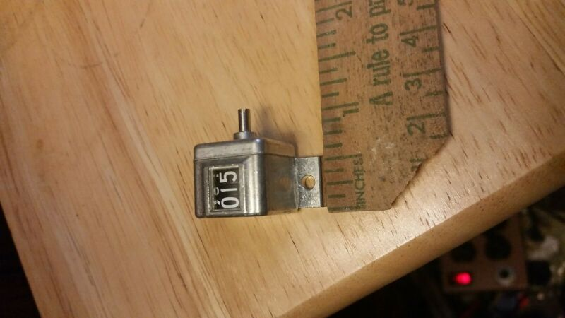 Veeder root counter 3 digit 1 turn per digit and other veeder root counters NOS