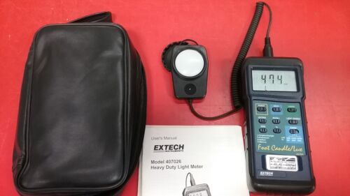 Extech 407026: Heavy Duty Light Meter with PC Interface-used