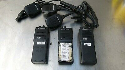 Lot Of 3 Motorola Mts2000 Flashport Fm Radio H01sdd9pw1bn W Battery Mic 4