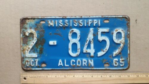 License Plate, Mississippi, 1965, 2 - 8459