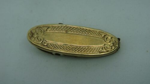 VINTAGE SOLID 14K YELLOW GOLD CLIP SCARF CLIP