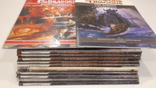 Lot of 12 4th Edition Dungeons & Dragons Adventure Modules & Supplement D&D 4E