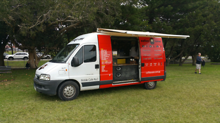 Coffee van and established daily run for sale!