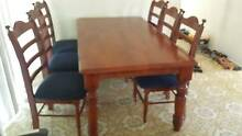 Wood Dining table with 6 chairs Ashmore Gold Coast City Preview