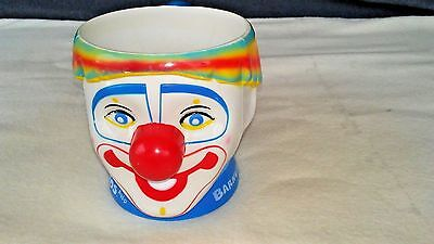 VINTAGE RINGLING BROS. AND BARNUM & BAILEY CIRCUS PLASTIC CLOWN CUP.
