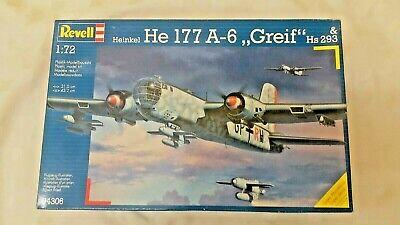 REVELL 1:72 Heinkel He-177 A-6 GREIF HS-293 Model Bomber Kit 04306 *BNISB*