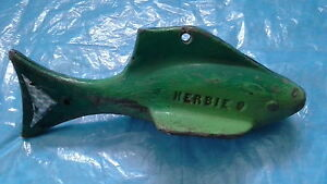 """LUCKIEST DOWN RIGGER LEAD FISH IN THE WORLD :)  """"HERBIE"""""""