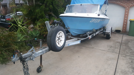 Boat and trailer with one year