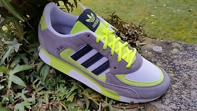 Adidas ZX850 Running Vintage Gym Trainers Grey / Yellow Size UK 9