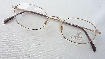 Fassung Herrenbrille eckig gold unisex metall Herren robust neuwertig size S