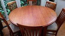 Solid timber 6 seater dining table + chairs Annandale Leichhardt Area Preview