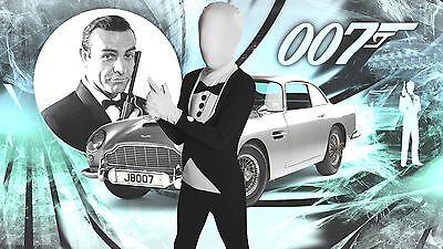 James Bond Tuxedo Morphsuit fancy dress BNIP 8-12yrs Boys 007 Book Week - James Bond 007 Fancy Dress Kostüm