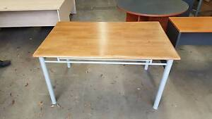 SMALL DINING TABLE white wooden dinner breakfast kitchen Murarrie Brisbane South East Preview