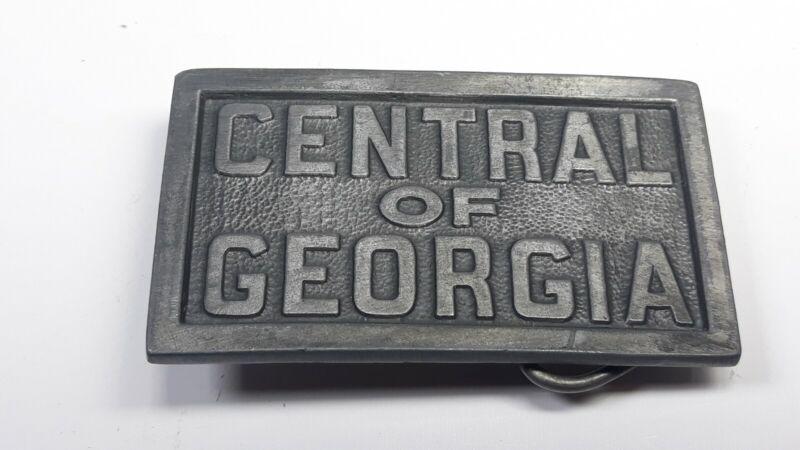 Vintage 1989 Central of Georgia Railroad Belt Buckle C+J 1536