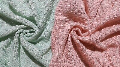2 COLOURS- SPARSELY KNITTED AND MELANGE KNIT JERSEY FABRIC- SOLD BY THE METRE