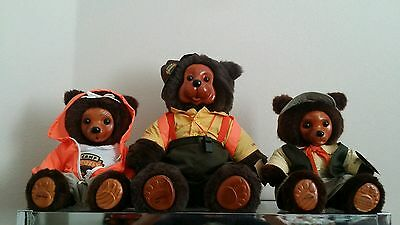 Robert Raikes Bears Camp Grizzly Wendell Hillary & Jeremy original 1990 with COA