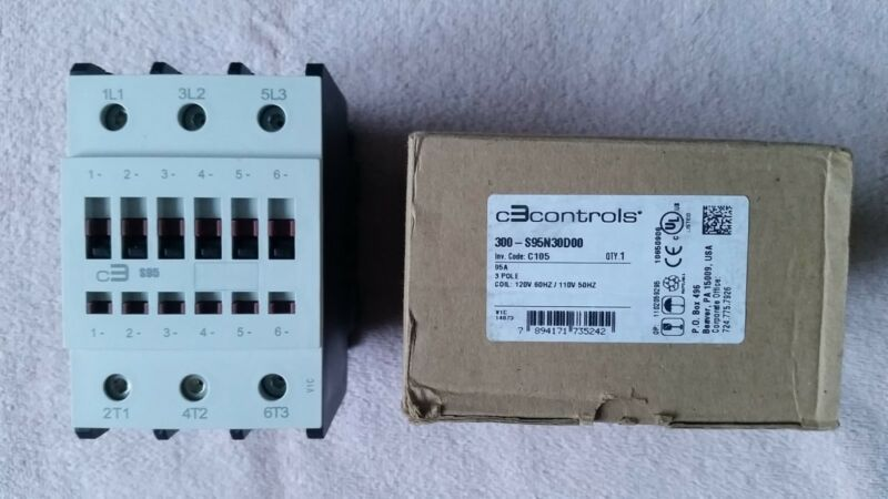 C3CONTROLS CONTACTOR 300-S95N30D00 * NEW WITH BOX *