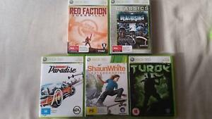 Xbox360 game bundle: Red faction,Skateboarding,Turok,Dead Rising