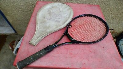 0cb3e1626d43a tennis racket Adidas vintage Contender 110 with cover L 3 43/8
