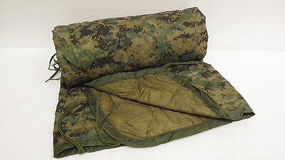 USMC MILITARY Poncho/Blanket  Reversible Digital Woodland/Coyote  GRADE A WOOBIE