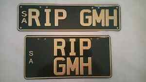 Holden or Ford Number Plates Greenwith Tea Tree Gully Area Preview