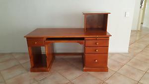 Free Timber Computer Desk Panania Bankstown Area Preview