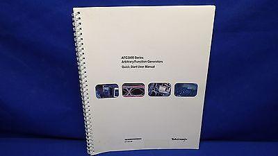 Tektronix Afg3000 Arbitrary Function Generator Series Quick Start Users Manual