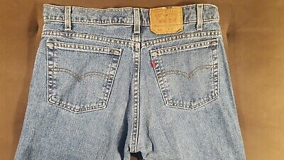 Vtg Levi's 505 Jeans Red Tab Zip Fly 90's Blue Denim 34x35.5 Distressed EUC!! Distressed Zip Fly Jeans