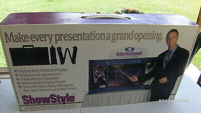 New Showstyle Briefcase Tabletop Portable Display Black Panels Exhibit