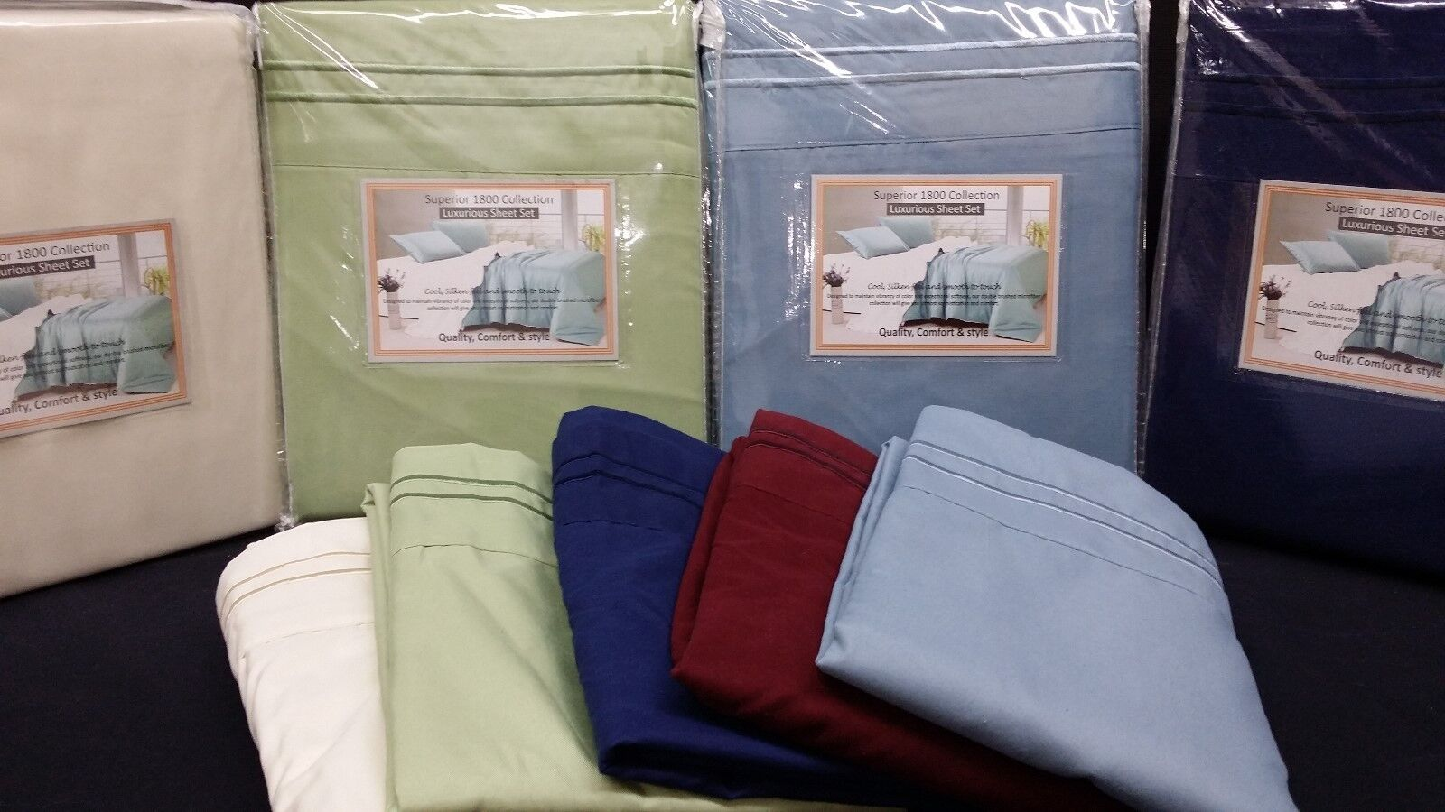 1800 THREAD COUNT 6PC CALIFORNIA KING WATERBED SHEET SET W/