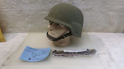 BRAND NEW UN-ISSUED US ARMY PASGT KEVLAR BALLISTIC COMBAT HELMET -  SIZE LARGE