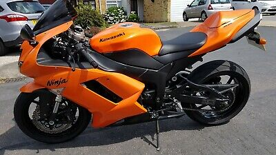 Kawasaki ZX6R Ninja 2007 Wild Fire Orange