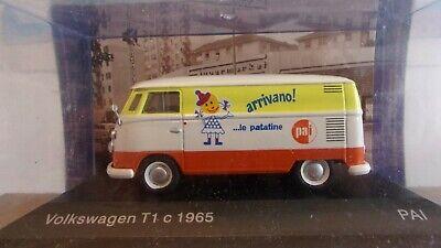 """VW T1 VAN 1965 """"PATATINE"""" (CHIPS).1/43 NEUF en VITRINE + BLISTER SCELLE.ALTAYA"""