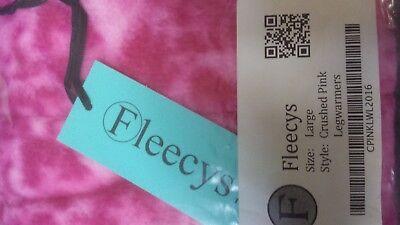 """Fleecys LEGWARMERS~ cozy ~NWT~BALLET~DANCE~or FASHION  Pink or Blue 31"""" Large"""