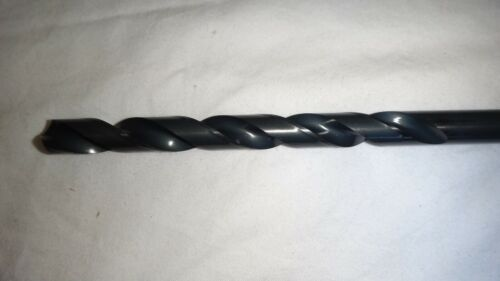 """27/64"""" (.4219"""") HSS Taper Length Drill - Made In USA Black Oxide 7-3/8""""OAL"""