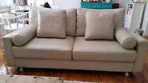 KING FURNITURE LEATHER COUCH & SINGLE SEATER Monterey Rockdale Area Preview