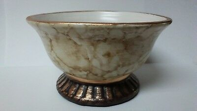 Ceramic Potpourri Bowl Marble Brown FREE SHIPPING!!