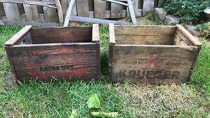 Old wooden drink crates