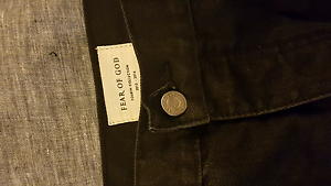 Black Fear of God mens jeans size 34 Currumbin Gold Coast South Preview