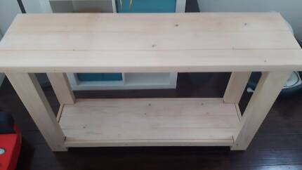 Side table (solid wood) L130 W38 H75