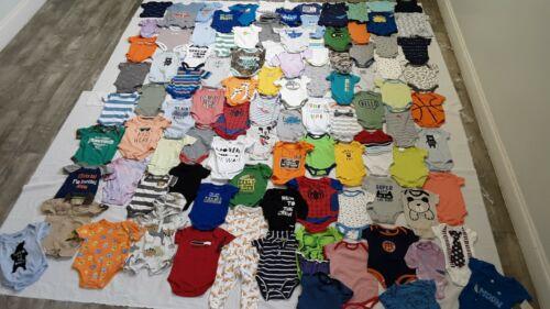 Huge Baby Boy Lot/70 Size 0-6m Spring Summer Clothing Onsies, Everyday Nike+more