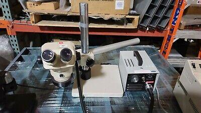 Olympus Stereo Inspection Microscope Sz40 110al05x With Lightboom Stand 10x Eye