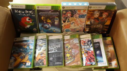 Lot of import shmups and others (XBOX 360) 11 games Eschatos Pengo Radirgy Noah