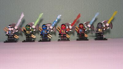 NEW Ninjago lot 6 complete Minifigures Weapons ninja samurai blocks Set For lego