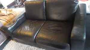 FREE SOFT BLACK LEATHER SOFA AND ARM CHAIR Bellevue Hill Eastern Suburbs Preview