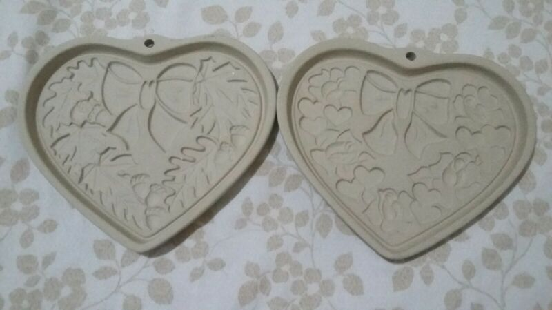 2 pampered chef holiday cookie moulds limited edition
